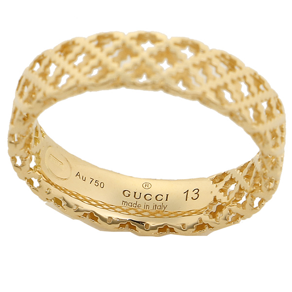 Gucci Ring Men Lady S 341236 J8500 8000 ディアマンティッシマライト Yellow Gold