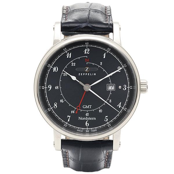 【返品OK】ツェッペリン Zeppelin 時計 腕時計 メンズ ツェッペリン 時計 メンズ ZEPPELIN 75463 ノルドスタン クォーツ 腕時計 ウォッチ ブラック/ネイビー