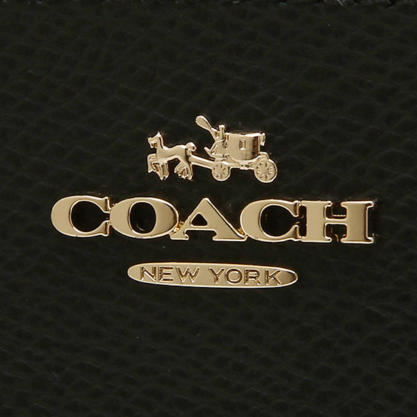 Coach COACH outlet wallets purse coach purse outlet COACH F52648 IMBLK cross grain leather zip around wallet black