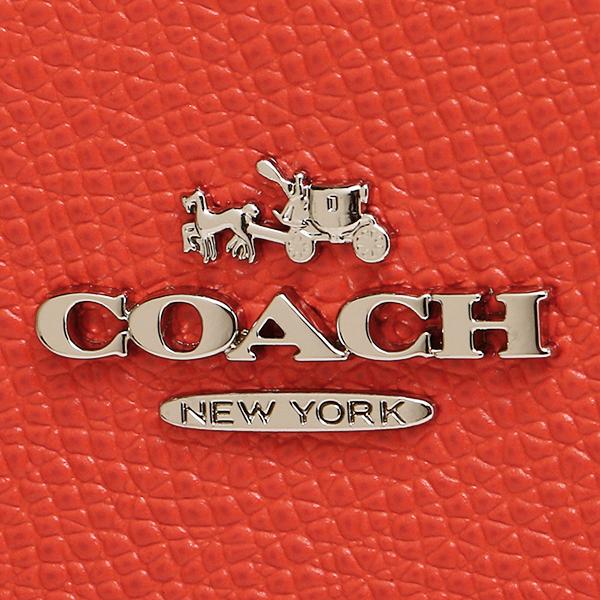 코치 숄더백 COACH 가방 코치 가방 COACH 52348 SV/CO テクスチャード 엠보스 드 레더 스윙 팩 숄더백 실버/코랄