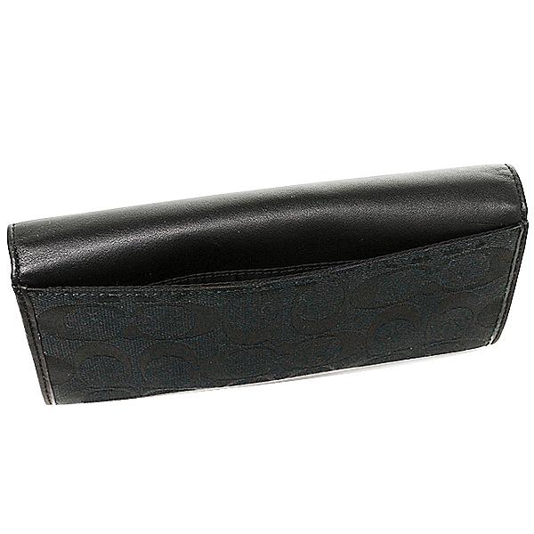 black coach purse outlet 7za1  Coach COACH outlet wallets purse coach purse outlet COACH F53617 SBKBK  signature 12 CM slim envelope