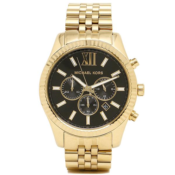 【28時間限定ポイント5倍】マイケルコース 腕時計 メンズ MK8286 ブラックゴールド