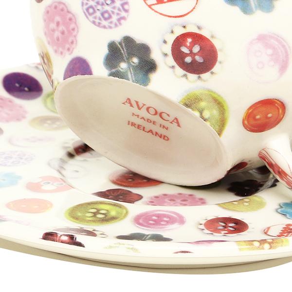 アヴォカ AVOCA アヴォカ 컵/접시 AVOCA 3036 BUTTON CERAMICS CUP&SAUCER BUTTON