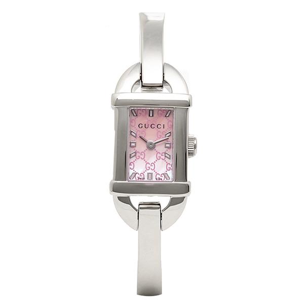 【4時間限定ポイント10倍】グッチ GUCCI 時計 レディース 腕時計 グッチ 時計 GUCCI 6800シリーズ 腕時計 YA068586 ウォッチ ピンクパール/シルバー
