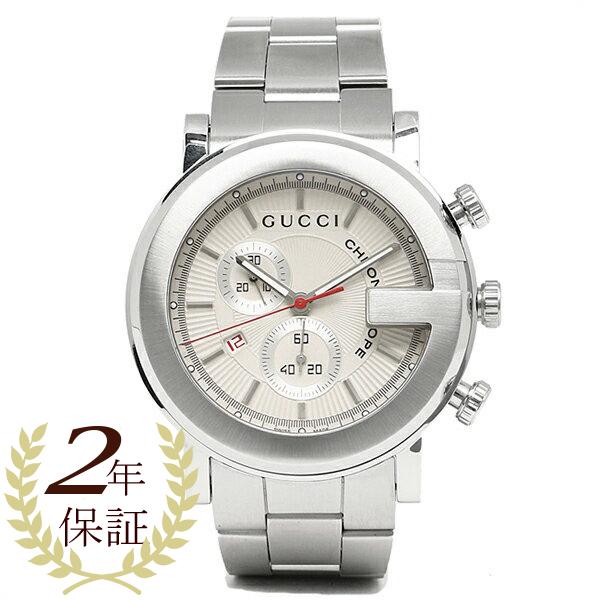 グッチ GUCCI 時計 腕時計 グッチ 時計 メンズ 腕時計 GUCCI YA101339 Gラウンド クロノグラフ ステンレス ホワイト/シルバー