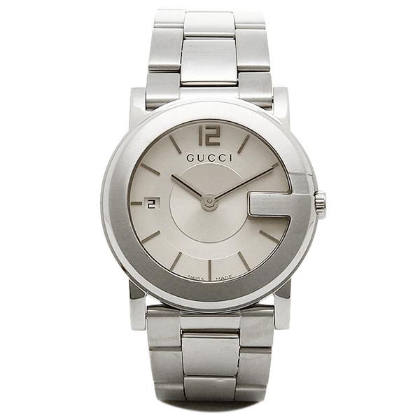 【4時間限定ポイント10倍】グッチ GUCCI 時計 腕時計 GUCCI グッチ Gラウンド ホワイト/シルバー メンズ/ボーイズ 腕時計 YA101406 ウォッチ WATCH
