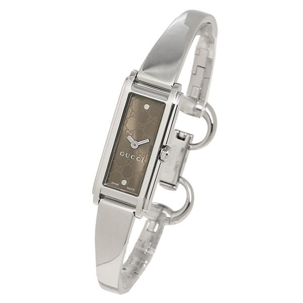 f9bc6aea5679 グッチGUCCI時計レディース腕時計グッチ時計GUCCIYA109529G-LINEGラインバングルウォッチブラウン/シルバー