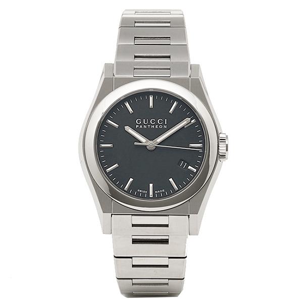 グッチ GUCCI 時計メンズ/ レディース 腕時計 グッチ 腕時計 GUCCI 時計 YA115423 ボーイズ パンテオン ブラック/シルバー ウォッチ