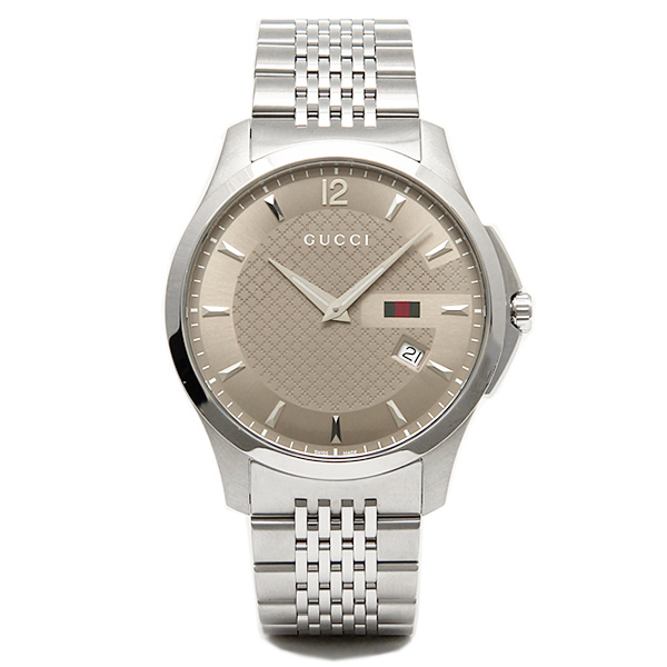 6f116f3500a Gucci GUCCI clock watch Gucci clock watch GUCCI G thymeless men watch  YA126310 silver   brown