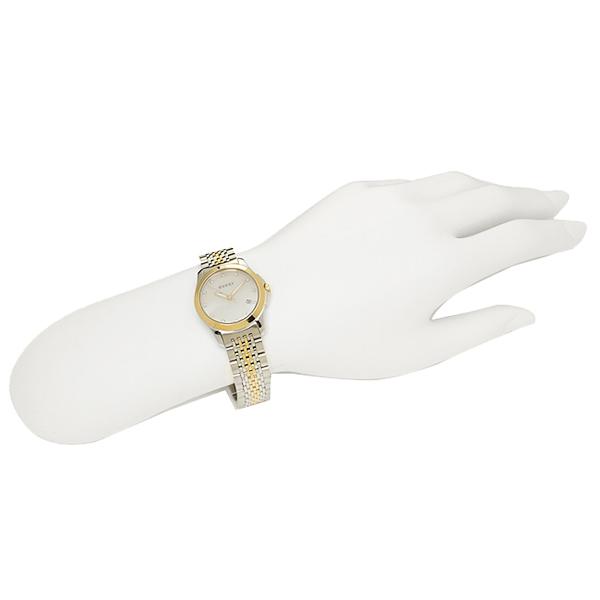 구찌 GUCCI 시계 손목시계 구찌 시계 손목시계 GUCCI YA126513 G타임레스화이트/골드/실버 레이디스 워치