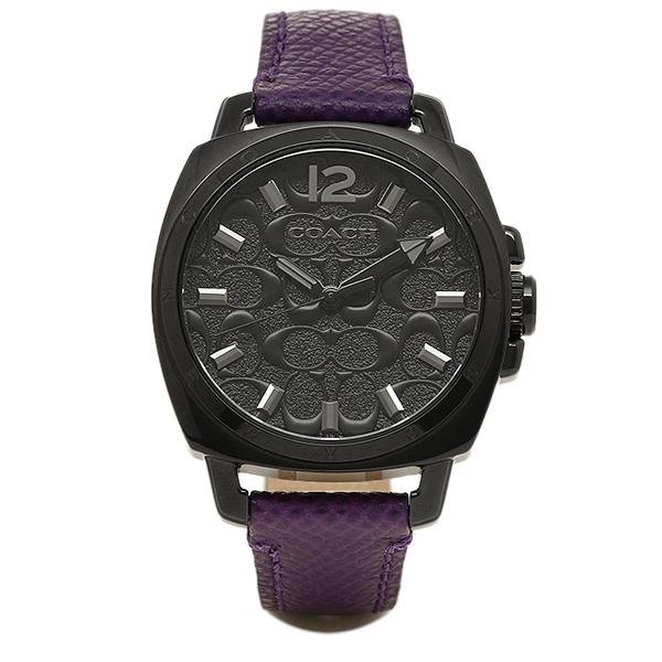 코치 시계 레이디스 COACH 14502040 BOYFRIEND MINI 보이프렌드 미니 시그네쳐 손목시계 워치 블랙/퍼플