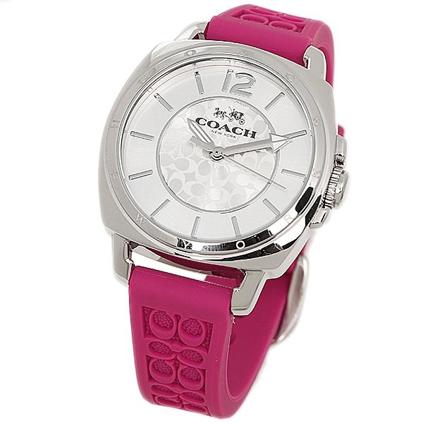 코치 시계 레이디스 COACH 14502092 BOYFRIEND MINI 보이프렌드 미니 시그네쳐 손목시계 워치 실버/핑크