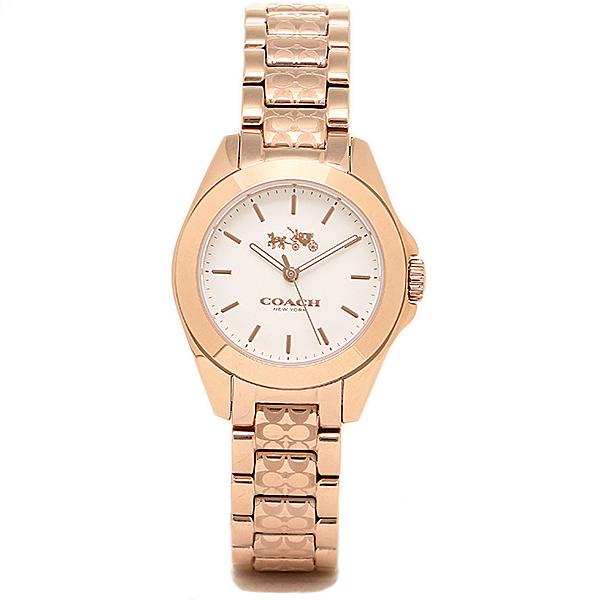 【2時間限定ポイント10倍】コーチ 時計 レディース COACH 14502185 TRISTEN MINI トリステンミニブレスレット 腕時計 ウォッチ ゴールド/ホワイト