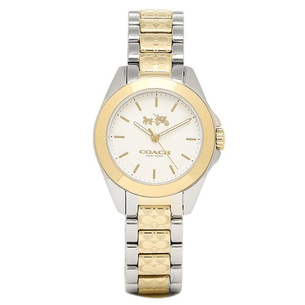 コーチ 時計 レディース COACH 14502186 TRISTEN MINI トリステンミニブレスレット 腕時計 ウォッチ シルバー/イエローゴールド