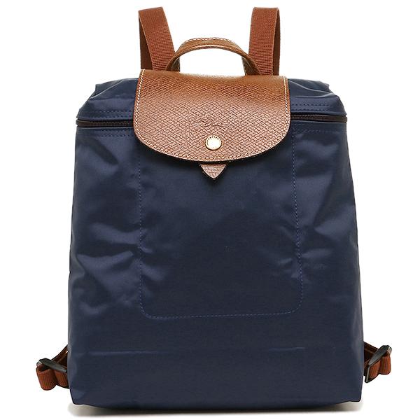 Longchamp帆布背包LONGCHAMP 1699 089 556女子的深蓝