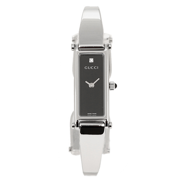 dce42dea33a Gucci GUCCI clock Lady s watch GUCCI Gucci 1500 series YA015555 black    silver watch watch