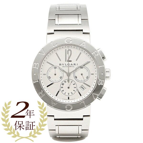 【38時間限定ポイント5倍】ブルガリ BVLGARI 時計 腕時計 メンズ ブルガリ 時計 メンズ BVLGARI BB42WSSDCH 腕時計 ウォッチ シルバー ホワイト
