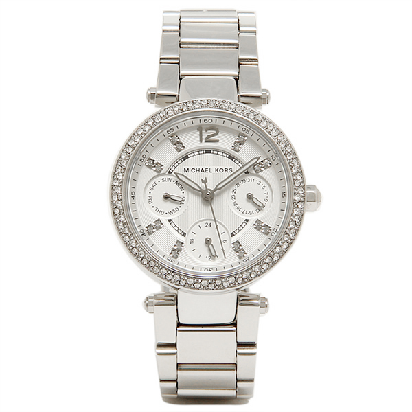 47d0b17f197f Michael Kors clock Lady s MICHAEL KORS MK5615 PARKER watch watch silver    white