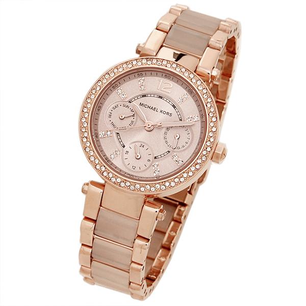36fa415dc879 Michael Kors clock Lady s MICHAEL KORS MK6110 MK6110622 PARKER watch watch  pink gold