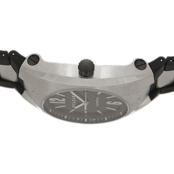 buy popular 48053 8546f Bulgari BVLGARI clock watch men BVLGARI Bulgari Elgon automatic rebab rack  & silver / carbon black men EG40BSVD watch watch serial number existence