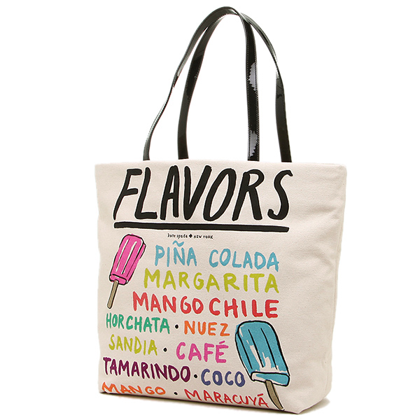 케이트스페이드밧그레디스아우트렛트 KATE SPADE PXRU4360 138 SOUTH OF THE BORDER MEXICAN POPSICLE BON SHOPPER 토트 백 MEXICANPOP
