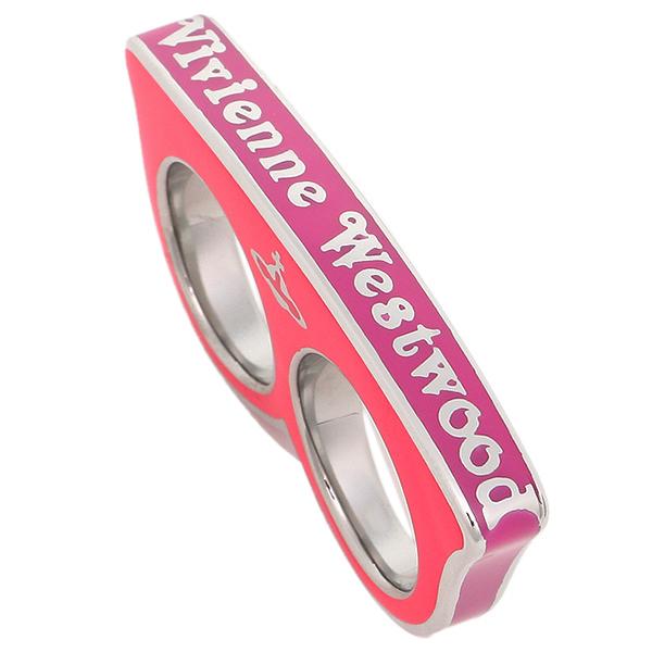 ヴィヴィアンウエストウッド 指輪 Vivienne Westwood BR83/FUSIA ダブルリング フューシャピンク/シルバー