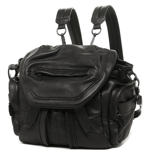 Alexander Wang bag Alexander Wang 20B0056 001 MINI MARTI WASHED COVERED ZIPS rucksack backpack BLACK