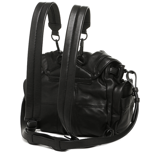 Alexander one bag Alexander Wang 20B0056 001 MINI MARTI WASHED COVERED ZIPS rucksack backpack BLACK