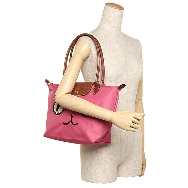 출장 가방 LONGCHAMP 2605 576 610 LE PLIAGE MIAOU SHOULDER BAG 가방 MALABAR PINK