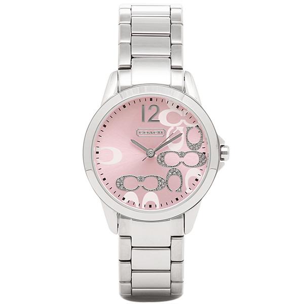 コーチ 時計 レディース COACH 14501617 クラシックシグネチャー 腕時計 ウォッチ ピンク/シルバー