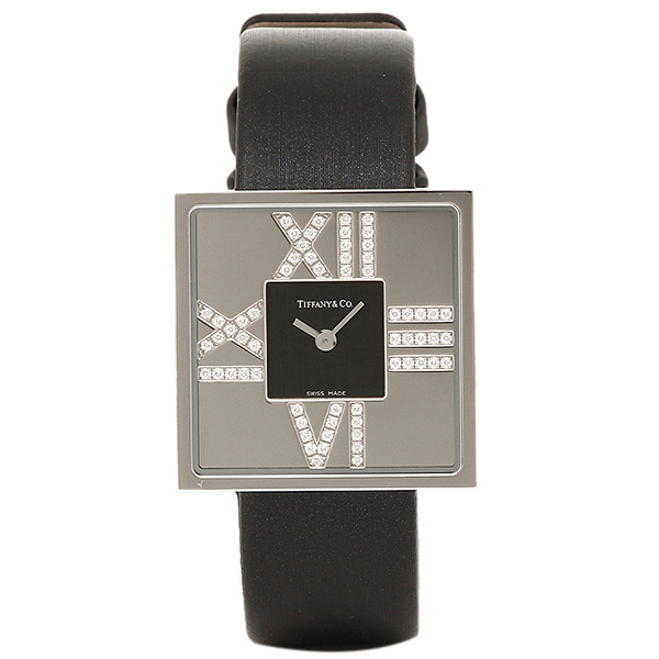 ティファニー TIFFANY & Co 時計 腕時計 ティファニー 時計 レディース TIFFANY&Co Z19501040E10A40E ATLAS COCKTAIL SQUARE LADY 腕時計 ウォッチ ブラック