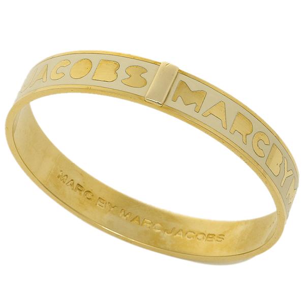 마크바이마크제이코브스브레스렛트 MARC BY MARC JACOBS M3PE609 106 LOGO BANGLE 팔찌 크림/골드