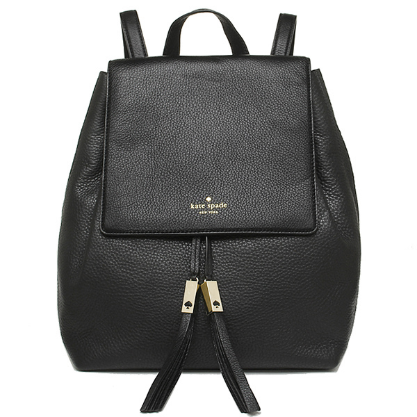 凯特黑桃包女士奥特莱斯KATE SPADE WKRU3317 001 GREY STREET WILDER DRAWSTRING帆布背包背包BLACK