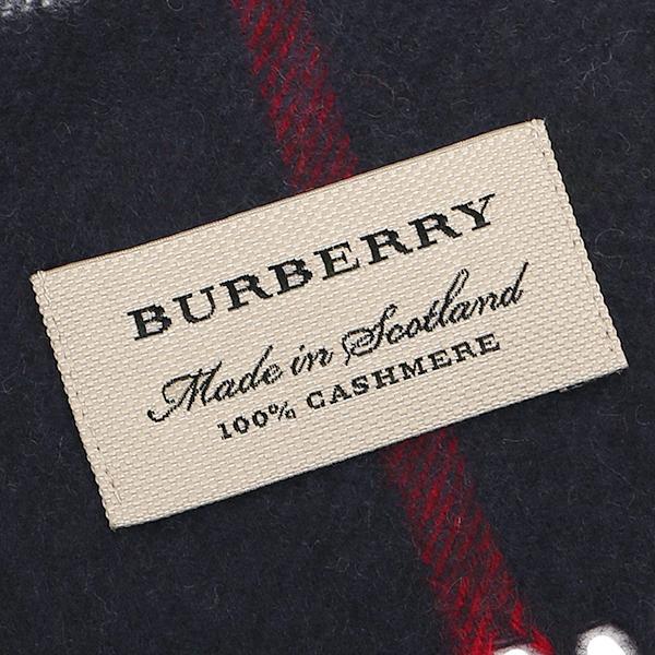 바바리 머플러 BURBERRY 3993734 4100 B CLASSIC CASHMERE 캐시미어100% 30×168 cm스톨 NAVY