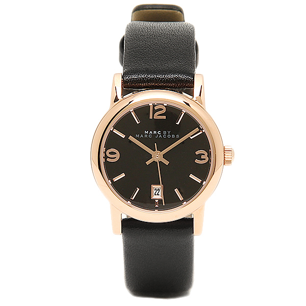 Mark by mark Jacobs clock MARC BY MARC JACOBS MBM1404 FARROW Farrow watch watch black / gold