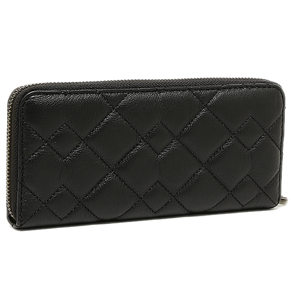 마크바이마크제이코브스 지갑 MARC BY MARC JACOBS M0007522 001 CROSBY QUILT LEATHER SLIM ZIP AROUND장 지갑 BLACK