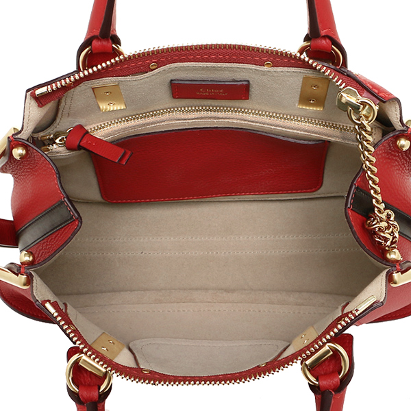크로에밧그 CHLOE 레이디스 3 S1213 161 BDZ HAYLEY SMALL DOUBLE CARRY BAG 숄더백 DUSKY RED