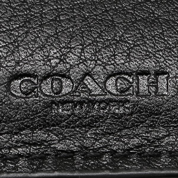 教练2个机会钱包奥特莱斯COACH F74992 BLK黑色