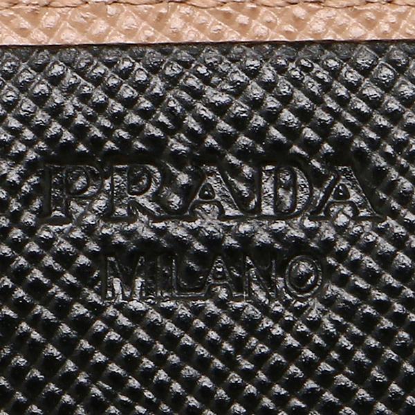 프라다 지갑 PRADA 1 MH132 2 E53 F0N52 SAFFIANO DOUBLE장 지갑 CAMMEO/NERO