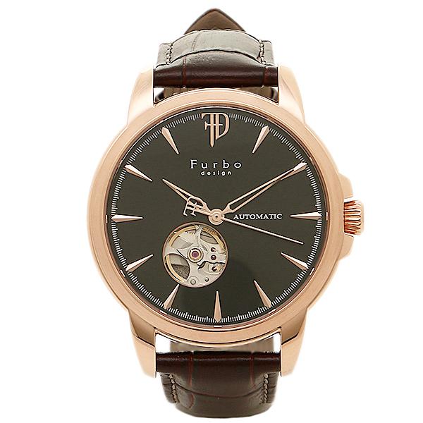 フルボデザイン 時計 メンズ Furbo design F5027PBKBR 腕時計 ウォッチ ブラック/ブラウン