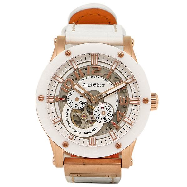 エンジェルクローバー 時計 ANGEL CLOVER EVA43PWH-WH EXVENTURE エクスベンチャー 自動巻き 腕時計 ウォッチ ホワイト/ゴールド