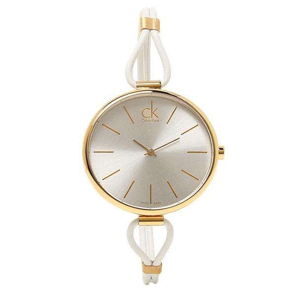 【期間限定ポイント10倍】【返品OK】カルバンクライン 時計 レディース CALVIN KLEIN K3V235.L6 SELECTION セレクション 腕時計 シルバー/ゴールド/ホワイト