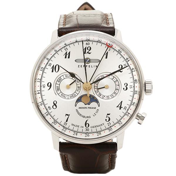 ツェッペリン 時計 メンズ ZEPPELIN 70361 HINDENBURG ヒンデンブルク 7036-1 腕時計 ウォッチ シルバー/ブラウン