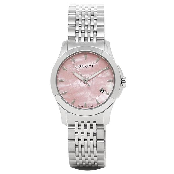 【9時間限定ポイント10倍】【返品OK】グッチ 時計 レディース GUCCI YA126532 G-タイムレス 腕時計 ウォッチ シルバー/ピンク