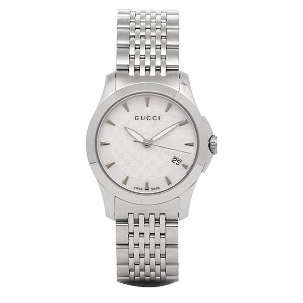 【6時間限定ポイント10倍】【返品OK】グッチ 時計 レディース GUCCI YA126533 G-タイムレス 腕時計 ウォッチ シルバー/ホワイト