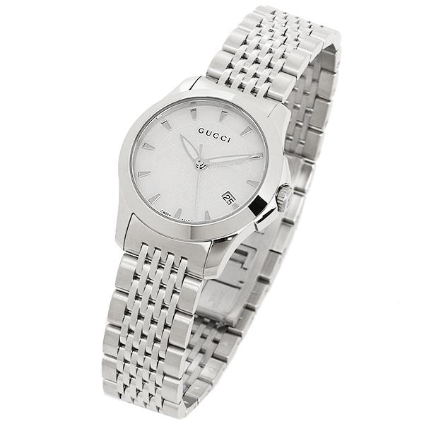 7b49d245ec 【4時間限定ポイント10倍】グッチ時計レディースGUCCIYA126533G-タイムレス腕時計ウォッチ