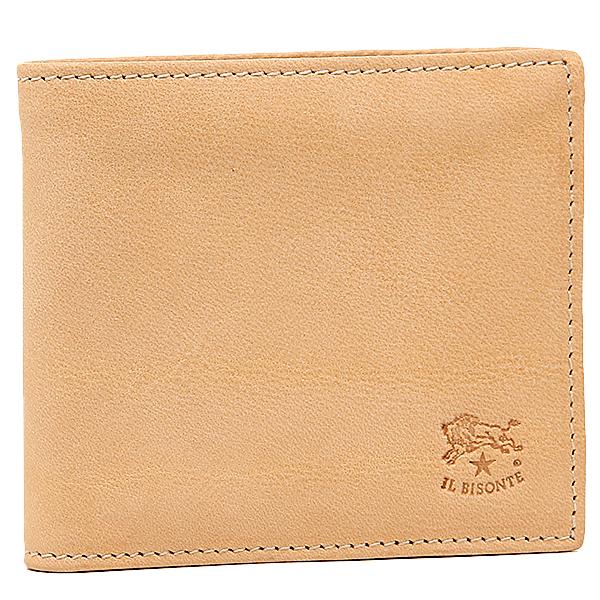 【24時間限定ポイント5倍】イルビゾンテ 財布 IL BISONTE C0817 P 120 メンズ 二つ折り財布 NATURAL