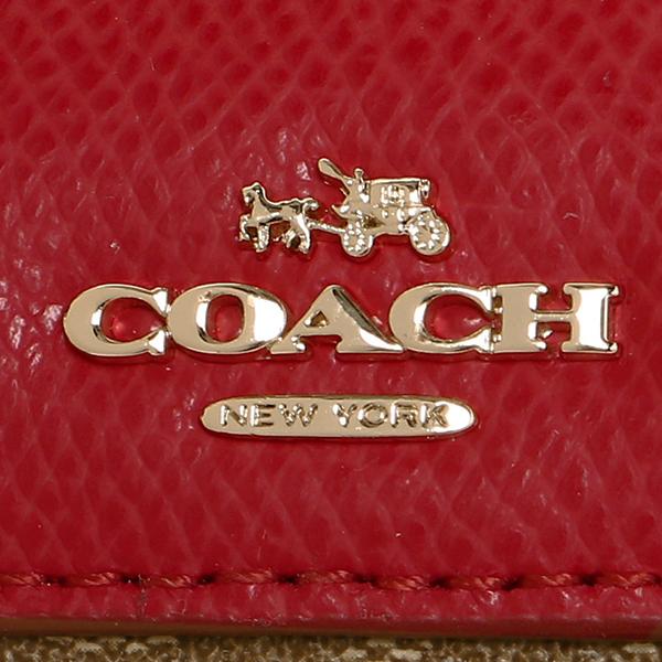 教练挎包奥特莱斯COACH F36702 IME7P黄褐色红