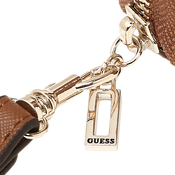 게스 지갑 GUESS VG617246 COG KORRY LARGE ZIP AROUND장 지갑 COGNAC