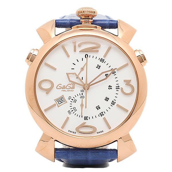 【返品OK】ガガミラノ 時計 メンズ GAGA MILANO 5098.01BT THINCHRONO シンクロノ 46MM 腕時計 ウォッチ ブルー/ゴールド/ホワイト